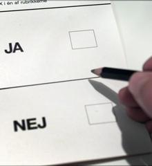 Til folkeafstemningen om EU-retforbeholdet skal vi stemme enten ja eller nej til en ophævelse af forbeholdet