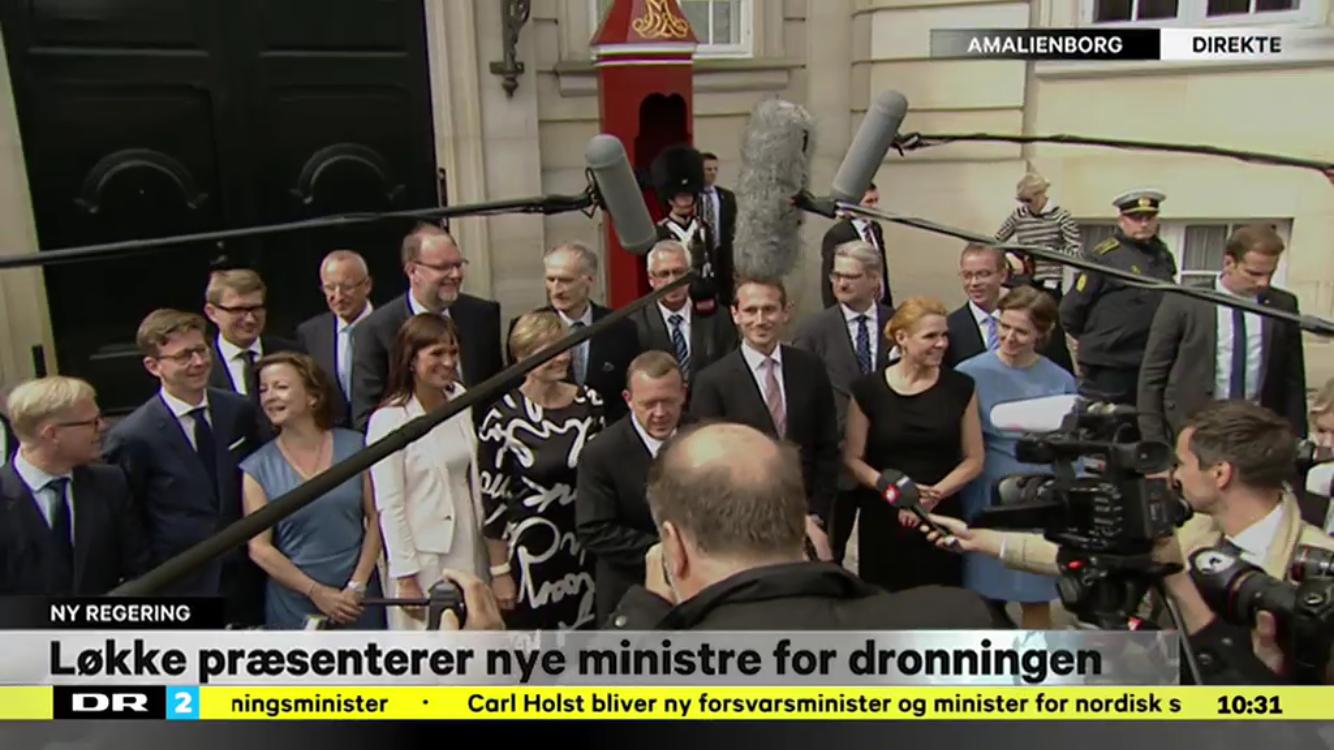 Pæsentattin af den nuværende regering og den ministerliste